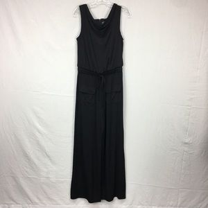 Vince Camuto Black Drawstring Waist Jumpsuit